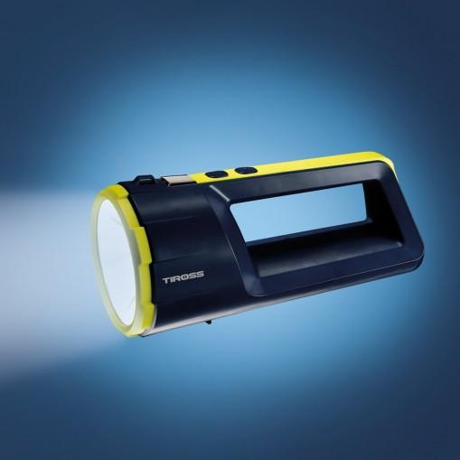 Latarka akumulatorowa LED z dodatkową latarką z boku