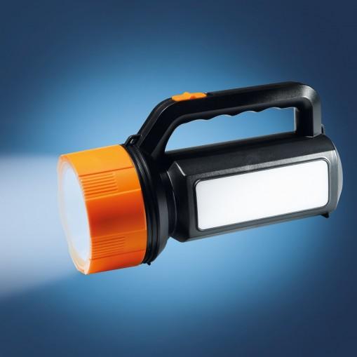 Latarka akumulatorowa LED z poręczną obudową