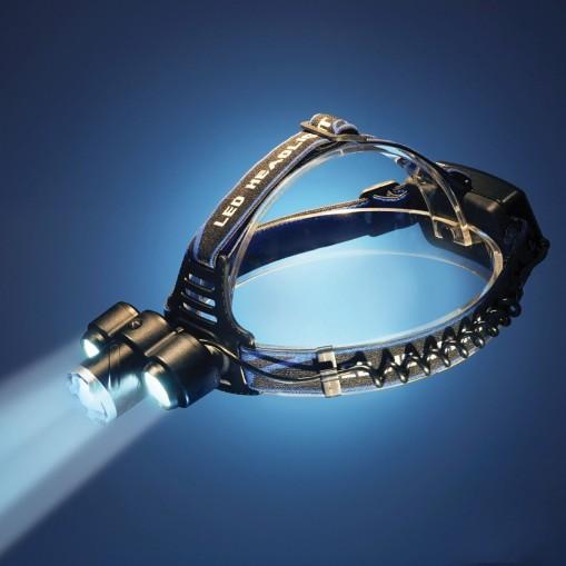 Profesjonalna latarka czołowa z opcją zoom